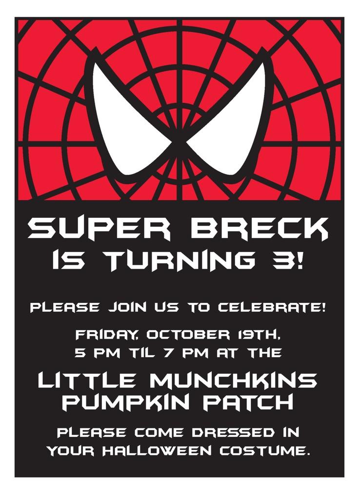 The 25+ best Spiderman birthday invitations ideas on Pinterest ...