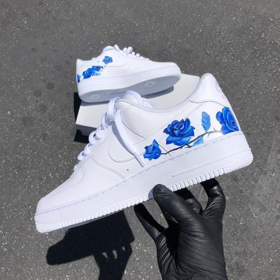 Blue Rose Air Force 1S em 2020   Sapatilhas nike, Sapatos