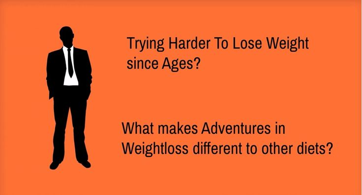 How Adventures in Weightloss is different from other Weight-loss programs? https://www.youtube.com/watch?v=MgyL4TdnHH8  Here at Adventures in Weightloss we don't just give the same plan to all of our clients. Everyone has distinct physiological differences which can impact the way they respond to certain foods and in turn the way they look and lose weight.  Upon sign up, your plan will work like this:http://www.adventuresweightloss.com.au/our-program/