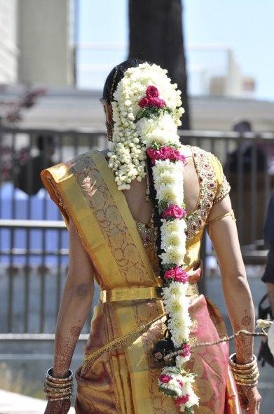 traditional sari w/ modern blouse