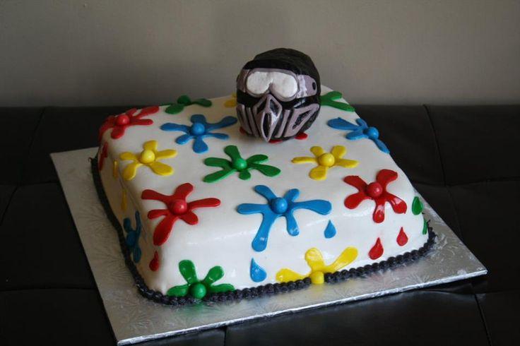 Soccer Ball Cake Design : Paintball cake paintball cakes Pinterest