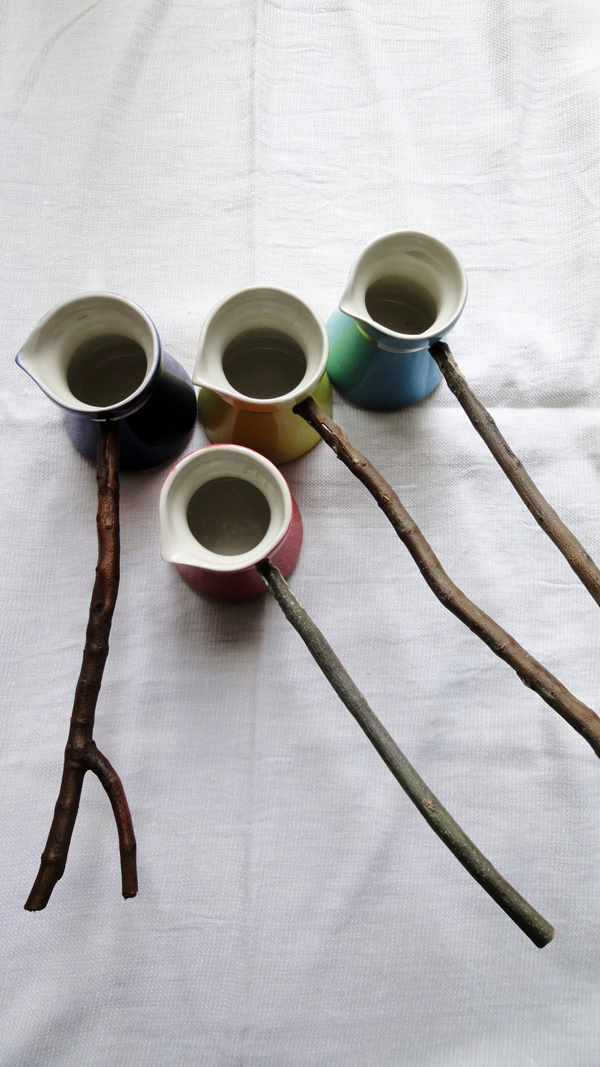 traditional turkish porcelain coffee pots (by Tulya Madra and Firat Aykaç)