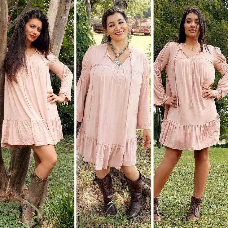 This SUPER cute cozy Swing Dress gives the Bohemian Cowgirl look a twist of comfort and style!