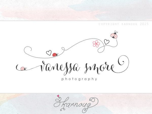 Ladybug Logo, Kids Logo, Newborn Logo, Party Logo, Photography Logo, Boutique Logo, Premade Logo, Custom Logo, Custom Watermark by karnoug on Etsy