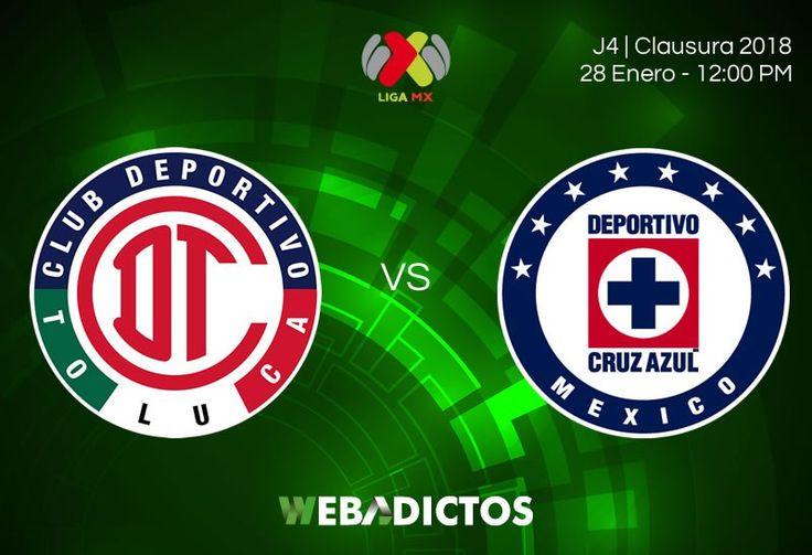 Transmisión de Toluca vs Cruz Azul por internet; J4 Clausura 2018 - https://webadictos.com/2018/01/28/toluca-vs-cruz-azul-j4-clausura-2018/