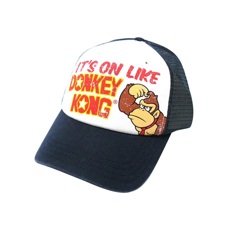 Keps Nintendo - It´s on like #DonkeyKong (vit) #keps #mössa #beanie #cap #clothes #fashion #swag #love #girl #girls #hat #snapback
