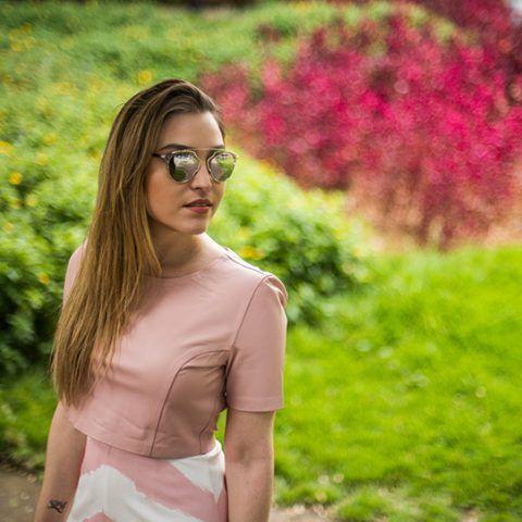 Look da Lu: rosa claro