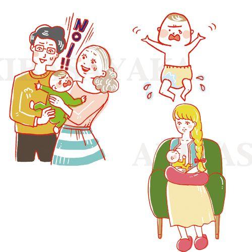 妊婦さん・赤ちゃんイラスト(ポップ)