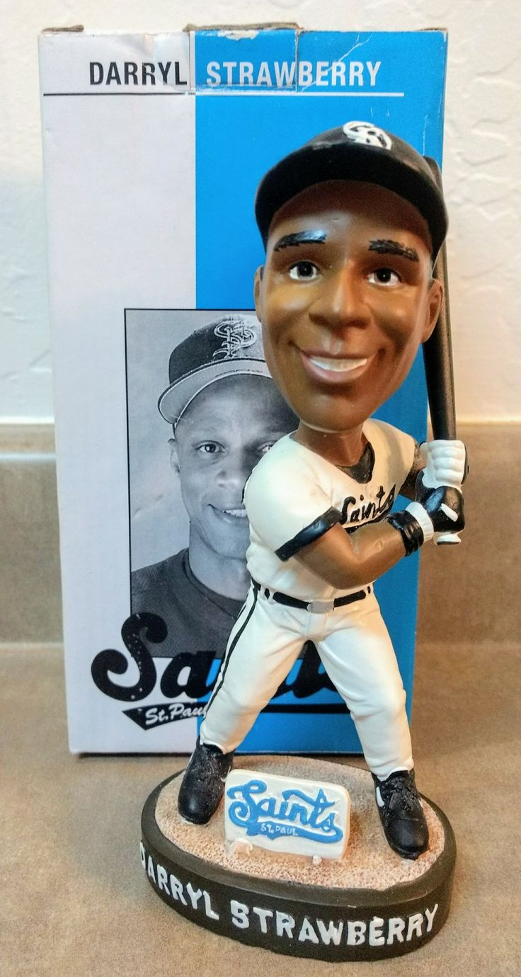 Saint Paul Saints Darryl Strawberry bobblehead