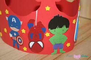 Corona De Superheroes Goma Eva Punt I Goma Toys Toy Chest Y Cake