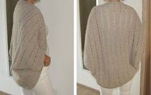 Cardigan as Square, for Beginners, Size All / oversize, Knitting Pattern