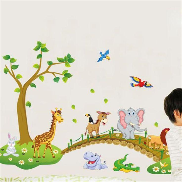 Animal Bridge Wall Sticker //Price: $12.99 & FREE Shipping //     #DIY