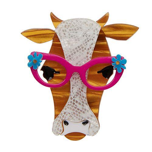 Erstwilder - Brooch - Happy Hilda Heifer - Cow