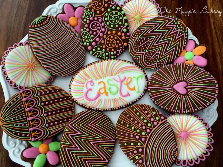 Intricately Piped Easter Eggs | The Magpie Bakery