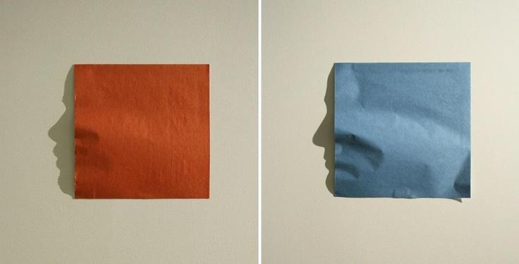 """Kumi Yamashita - """"Origami"""". Shadow Art commissioned by American Express."""