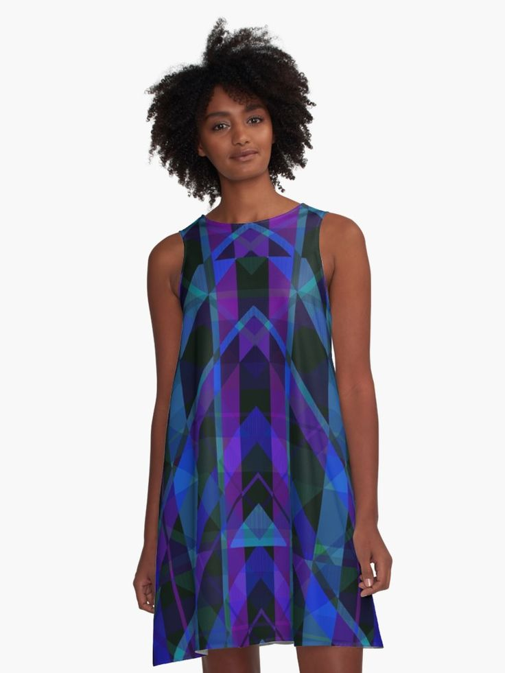 SOLD! Triangular Purple Plaid A-Line Dress by Scar Design. Many thanks to the buyer! #dress #39;s  #geometric #triangles #plaid #purple #blue #alinedress #onlineshopping #shopping #xmas #christmas #xmasgifts #christmasgifts #family #fashion #style #shopping #gifts #giftsforher  • Also buy this artwork on apparel, stickers, phone cases, and more.