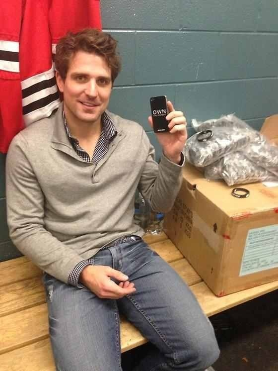 Patrick sharp own the moment ad for Bauer  Hockey