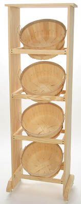 Looks similar to a tub display we make....beautiful design with enlarged tubs...WOOD DISPLAY W/4 SHALLOW BUSHEL #7778