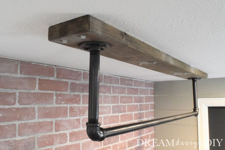 How To Make A Ceiling Mounted Pull Up Bar Diy Pull Up Bar Garage Pull Up Bar Pull Up Bar