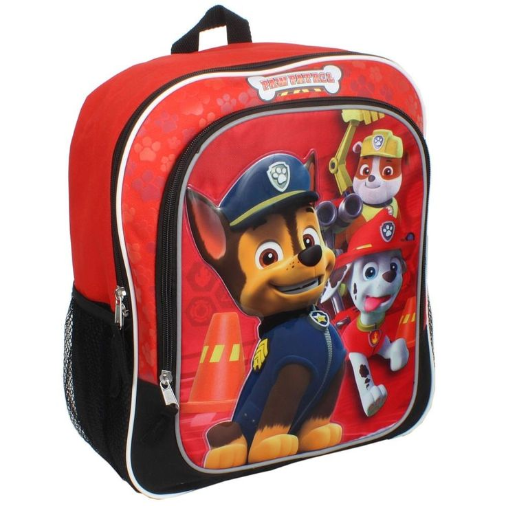 """Nickelodeon Paw Patrol 14"""" Backpack New with Tags! Chase, Marshall & Rubble!! #Nickelodeon #Backpack"""