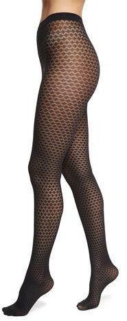 """Wolford Rhombus Semisheer Patterned Tights - Wolford """"Rhombus"""" tights in semisheer diamond pattern. High-rise, dig-free knitted waist. Shop at www.fashion-tights.net #tights #pantyhose #hosiery #nylons #legs"""