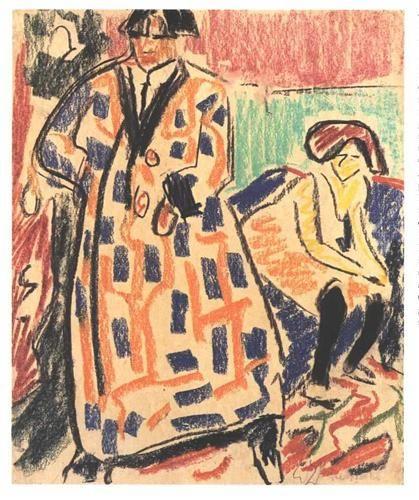 Self-portrait with Model - Ernst Ludwig Kirchner