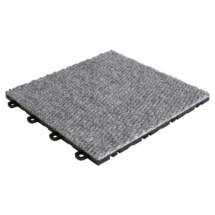12 X 12 Premium Interlocking Basement Floor Carpet Tile In Gray In 2020 Floor Carpet Tiles Interlocking Carpet Tile Carpet Tiles