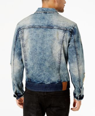 Sean John Men's Legacy Stretch Denim Trucker Jacket - Silver 2XL