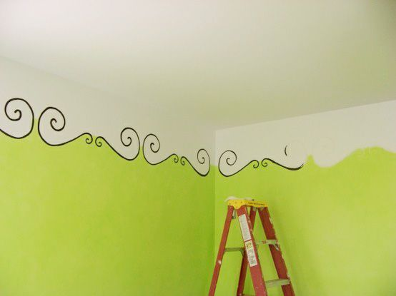 48 best house painted ceiling ideas images on pinterest home do it yourself home ideas for kids room an interesting idea instead of painting all the way to the top allowing the ceiling color to come down on the solutioingenieria Image collections
