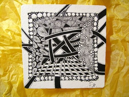 Zentangle By Fina Man First Czt In Asia Zentangle