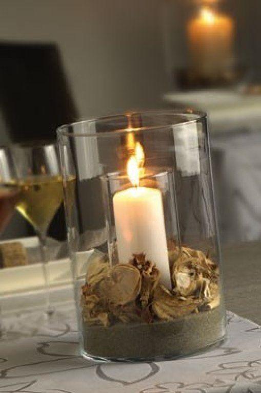 Centro de mesa con flores secas casamiento pinterest - Centros de mesa con pinas secas ...