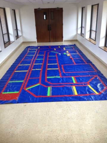 Giant Gameboard…making Sunday School memorable |