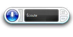 Barre d'outil de la reconnaissance vocale de Windows 7