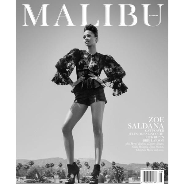 Zoe Saldana Smolders in the September Cover Story of Malibu Magazine... ❤ liked on Polyvore