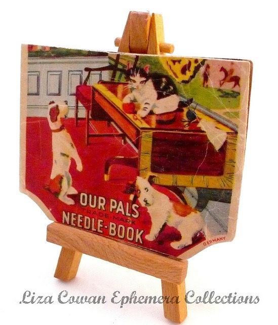 our pals needle book. Liza Cowan Ephemera Collections, via Flickr: Photo
