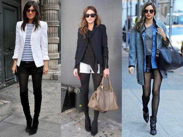 Combinar meia-calça e sapato da mesma cor = silhueta alongada. | 42 segredos de estilo que fazem toda a diferença no look