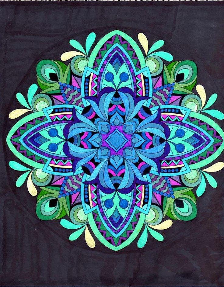 ColorIt Mandalas to Color Volume 1 Colorist: Lorrie Palmer #adultcoloring #coloringforadults #mandalas #mandala #coloringpages