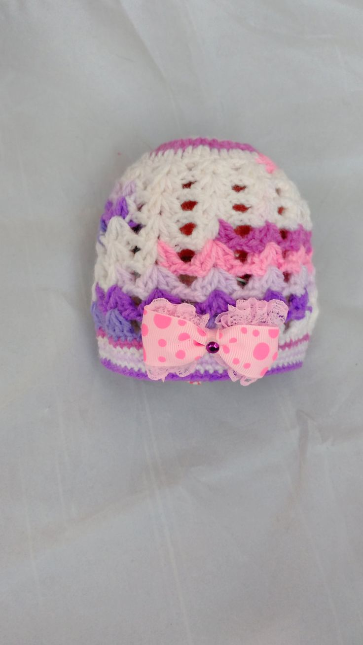 Pink Bow Beanie, Girls Wool Beanie, Crochet Baby Hat, Beanie For Baby, Baby Girl Hat, Baby Beanie by PPbabyboutique on Etsy