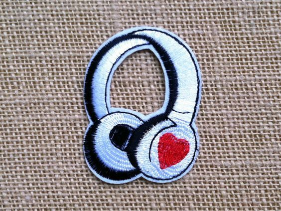 Punk Patches for Jackets Headphones Iron by RainbowEffectsTieDye