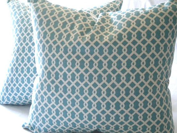 Decorative Cover   Robin egg blue and white  18x18 by MicaBlue, $25.00Pillows Covers, Etsy, 25 00, White 18X18, Covers Robin, Decor Covers, Pillow Covers, Robin Eggs Blue, Blue And White
