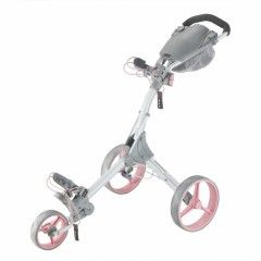 Chariots de golf Big Max IQ plus 3 roues - Blanc/Rose