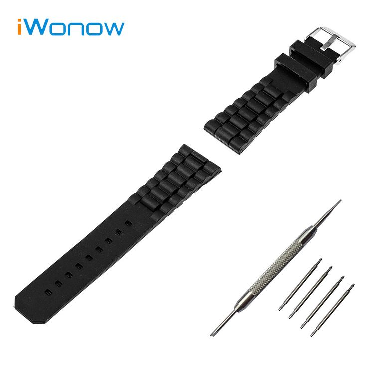 >> Click to Buy << Silicone Rubber Watch Band 22mm for Samsung Gear 2 R380 / R381 / R382 Stainless Steel Pin Buckle Strap Wrist Belt Bracelet +Tool #Affiliate