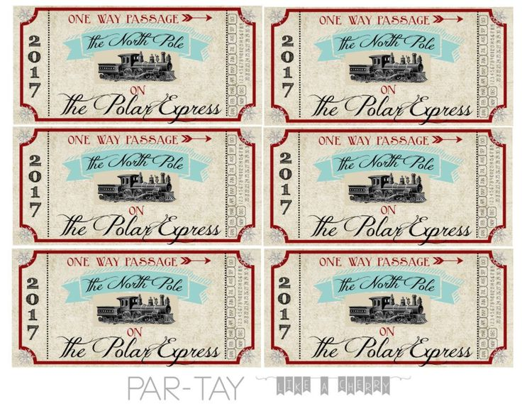 polar express tickets free printable and party ideas great for christmas party, birthday party or community event