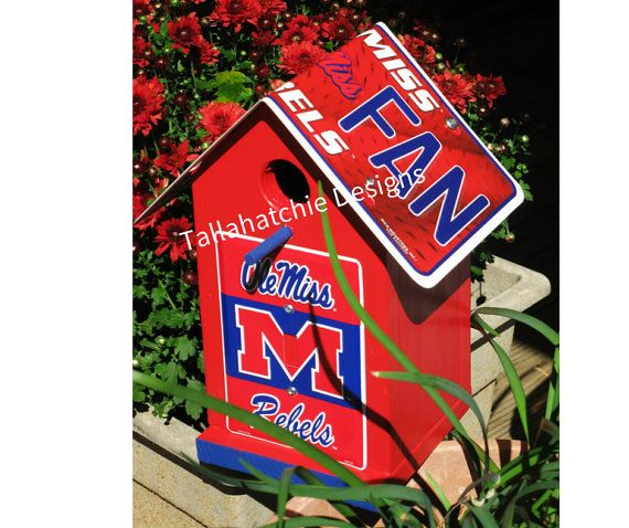 30% OFF TODAY Ole Miss BirdhouseOle Miss by TallahatchieDesigns