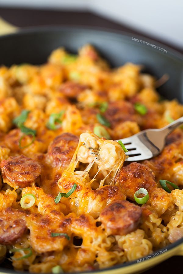 Spicy Sausage Pasta - I love these one post meals, especially when the pasta is cooked right in the sauce!.