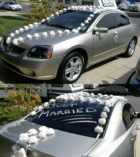 128 best wedding car decorations images on pinterest wedding car wedding car decorations junglespirit Gallery