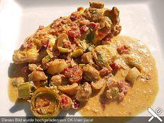 Schnitzelpfanne: *****sehr lecker! Statt Jägersoße nehmeich 1 Tüte Zwiebelsuppe von Maggi oder Knorr mit 1 TL Curry und Paprikapulver.