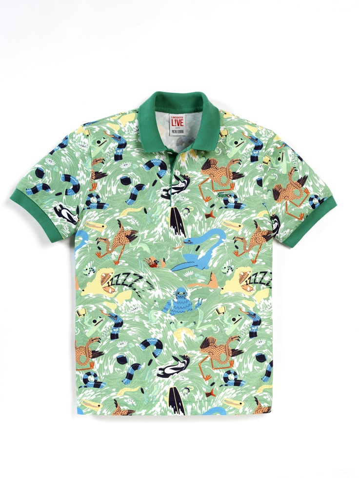 Lacoste LIVE Micah Lidberg collaboration, inspired by nature and wonderfully weird creatures.