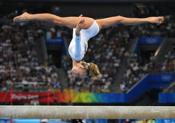 Gymnastics and the beam....I loved the challenge!
