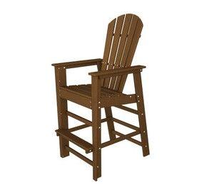 POLYWOOD SBD30TE South Beach Bar Chair, Teak
